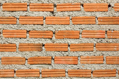 Μέρος του πορτοκαλιού τουβλότοιχος Στοκ Εικόνες