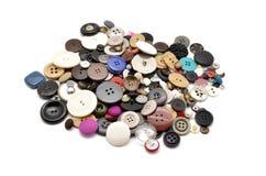 Μέρος του ραψίματος των κουμπιών Στοκ Εικόνες