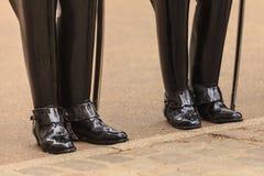 Μέρος του σώματος, solider μπότες φρουρών αλόγων στο UK Στοκ φωτογραφία με δικαίωμα ελεύθερης χρήσης