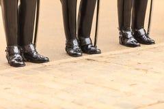 Μέρος του σώματος, solider μπότες φρουρών αλόγων στο UK Στοκ εικόνες με δικαίωμα ελεύθερης χρήσης