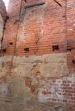 Μέρος του τοίχου πετρών στο πορτοκαλί χρώμα Στοκ φωτογραφία με δικαίωμα ελεύθερης χρήσης