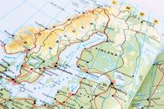 Μέρος του χάρτη της Ευρώπης Στοκ φωτογραφία με δικαίωμα ελεύθερης χρήσης