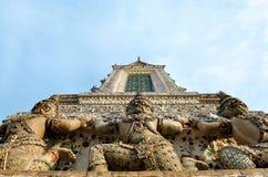 Μέρος του stupa στο wat arun Ταϊλάνδη Στοκ Εικόνες