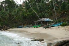 Μέρος των βαρκών στην παραλία, Σρι Λάνκα, Ασία στοκ εικόνες με δικαίωμα ελεύθερης χρήσης