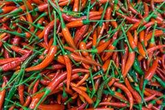 Μέρος των κόκκινων πιπεριών τσίλι Στοκ Εικόνες