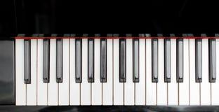 Μέρος των κλειδιών πιάνων Στοκ Φωτογραφία