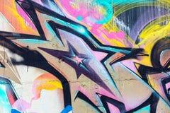 Μέρος των μεγάλων ζωηρόχρωμων γκράφιτι οδών στον τοίχο Στοκ φωτογραφία με δικαίωμα ελεύθερης χρήσης