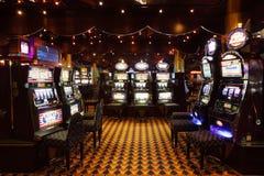 Μέρος των μηχανημάτων τυχερών παιχνιδιών με κέρματα στη πλευρά Luminosa σκαφών της γραμμής Στοκ φωτογραφίες με δικαίωμα ελεύθερης χρήσης