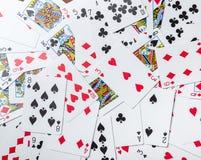 Μέρος των σκονισμένων παλαιών καρτών παιχνιδιού Στοκ εικόνες με δικαίωμα ελεύθερης χρήσης