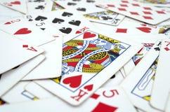 Μέρος των σκονισμένων παλαιών καρτών παιχνιδιού Στοκ Φωτογραφία
