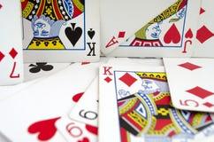 Μέρος των σκονισμένων παλαιών καρτών παιχνιδιού Στοκ Φωτογραφίες