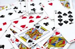 Μέρος των σκονισμένων παλαιών καρτών παιχνιδιού Στοκ Εικόνες
