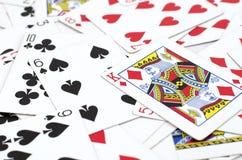 Μέρος των σκονισμένων παλαιών καρτών παιχνιδιού Στοκ εικόνα με δικαίωμα ελεύθερης χρήσης