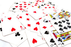 Μέρος των σκονισμένων παλαιών καρτών παιχνιδιού Στοκ Εικόνα