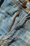 Μέρος φερμουάρ τζιν παντελόνι στοκ φωτογραφία