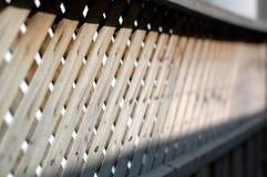 μέρος φραγών ξύλινο Στοκ Εικόνες