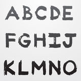 Μέρος 1 αλφάβητου γκράφιτι Στοκ εικόνες με δικαίωμα ελεύθερης χρήσης