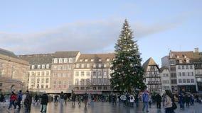 Μέρος Kleber στο Στρασβούργο απόθεμα βίντεο