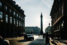 Μέρος Vendôme στο Παρίσι, Γαλλία Στοκ Εικόνες