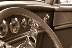 Μέσα ενός παλαιού αυτοκινήτου Στοκ Εικόνες
