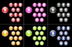 μέσα κουμπιών πολύχρωμα Στοκ φωτογραφία με δικαίωμα ελεύθερης χρήσης
