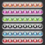 μέσα κουμπιών πολύχρωμα Στοκ Εικόνα