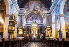 Μέσα σε μια φραντσησθανή εκκλησία Annunciation στο Λουμπλιάνα, Σλοβενία Στοκ Εικόνα