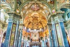 Μέσα στην εκκλησία της κυρίας Rosary μας, Πομπηία, Ιταλία Στοκ Εικόνα