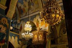 Μέσα στην ελληνική Ορθόδοξη Εκκλησία Annunciation στη Ναζαρέτ, Ισραήλ Στοκ εικόνα με δικαίωμα ελεύθερης χρήσης