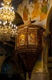Μέσα στην ελληνική Ορθόδοξη Εκκλησία Annunciation στη Ναζαρέτ, Ισραήλ Στοκ Εικόνες