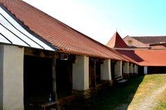 Μέσα στην παλαιά ενισχυμένη εκκλησία Dirjiu, Τρανσυλβανία, Ρουμανία Στοκ φωτογραφίες με δικαίωμα ελεύθερης χρήσης