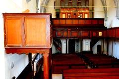 Μέσα στην παλαιά ενισχυμένη εκκλησία Dirjiu, Τρανσυλβανία, Ρουμανία Στοκ εικόνα με δικαίωμα ελεύθερης χρήσης