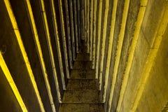 Μέσα στη μεγάλη πυραμίδα Μέσα στην πυραμίδα Αίθουσες και διάδρομοι στοκ εικόνα με δικαίωμα ελεύθερης χρήσης