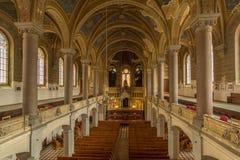 Μέσα στη μεγάλη συναγωγή σε Plzen, Τσεχία Στοκ Εικόνες