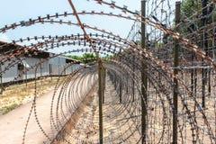 Μέσα στη φυλακή δέντρων καρύδων, το πολεμικό μουσείο του Βιετνάμ σε Phu Qu στοκ φωτογραφίες με δικαίωμα ελεύθερης χρήσης