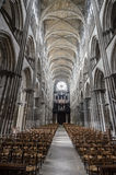 Μέσα στη Notre-Dame στο Ρουέν Στοκ Εικόνες