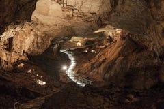 Μέσα στις σπηλιές Vjetrenica στοκ φωτογραφία με δικαίωμα ελεύθερης χρήσης