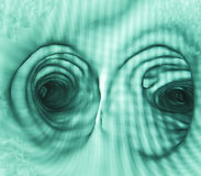Μέσα στον ανθρώπινο βρόγχο, CT πνευμόνων Στοκ Εικόνες