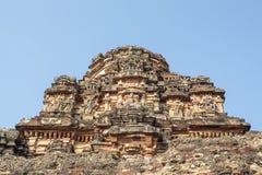 Μέσα στον ινδό ναό Vittala στην αρχαία περιοχή Hampi, Karnataka, Ινδία Στοκ φωτογραφία με δικαίωμα ελεύθερης χρήσης