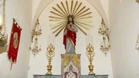 Μέσα στον καθεδρικό ναό της Κατάνια, που έχει το δικαίωμα στο ST Agatha, είναι μια εκκλησία στην Κατάνια, Σικελία, νότια Ιταλία απόθεμα βίντεο