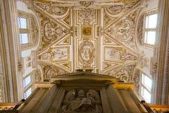Μέσα στον καθεδρικό ναό της Κόρδοβα στοκ φωτογραφία