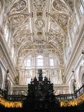 Μέσα στον καθεδρικό ναό της Κόρδοβα (Mezquita) Στοκ Εικόνες