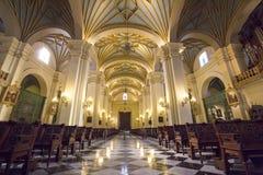 Μέσα στον καθεδρικό ναό Plaza de Armas στη Λίμα, Περού Στοκ Εικόνες