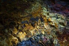 Μέσα στο ηφαίστειο Στοκ Φωτογραφίες