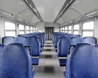 Μέσα στο κενό τραίνο Στοκ εικόνα με δικαίωμα ελεύθερης χρήσης