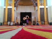 Μέσα στο μουσουλμανικό τέμενος Στοκ εικόνες με δικαίωμα ελεύθερης χρήσης