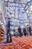 Μέσα στο μπλε μουσουλμανικό τέμενος Στοκ Φωτογραφίες