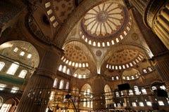 Μέσα στο μπλε μουσουλμανικό τέμενος, Instabul Στοκ Φωτογραφίες