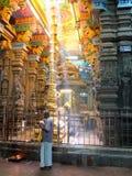 Μέσα στο ναό Madurai Menakshi Στοκ εικόνα με δικαίωμα ελεύθερης χρήσης