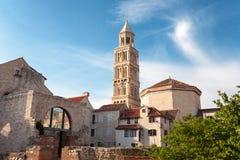 Μέσα στο παλάτι Diocletian, στη διάσπαση, Κροατία Στοκ εικόνα με δικαίωμα ελεύθερης χρήσης